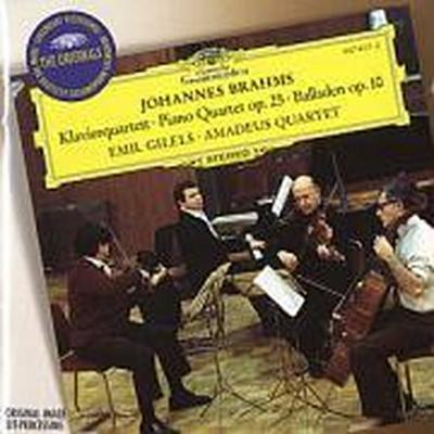 Brahms: Piano Quartet No.1 In G Minor, Op.25, 4 Ballades, Op. 10