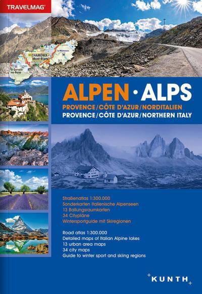 Reiseatlas Alpen / Provence / Cote D'Azur / Norditalien: 1:300000 (KUNTH Reiseatlanten)