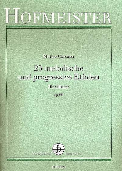 25 melodische und progressive Etüden op.60für Gitarre