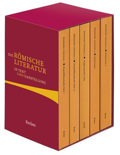 Die römische Literatur in Text und Darstellung: Fünf Bände in Kassette