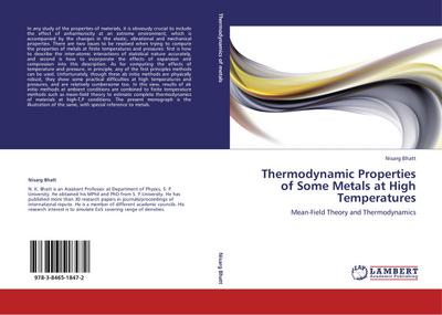 Thermodynamic Properties of Some Metals at High Temperatures