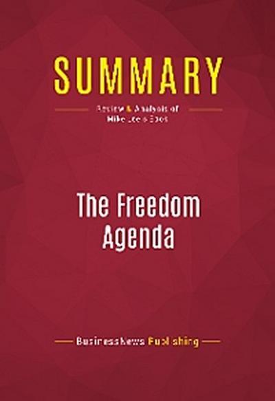 Summary: The Freedom Agenda