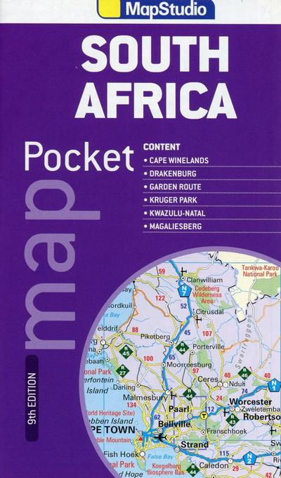 South Africa Pocket Map 1 : 3 600 000