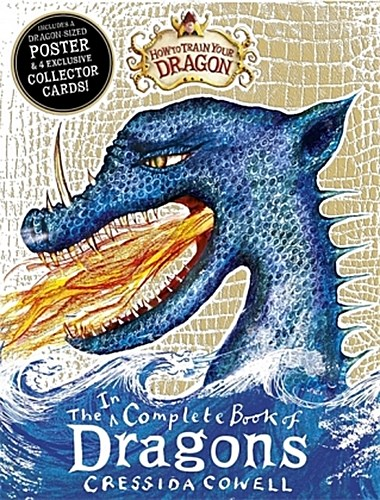The Incomplete Book of Dragons, w. Poster & 4 Collector Cards Cressida Cowell