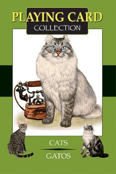 Künstlerspielkarten. Katzen. Karten