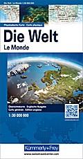 KuF Die Welt. Physikalische Karte 1 : 30 000 000