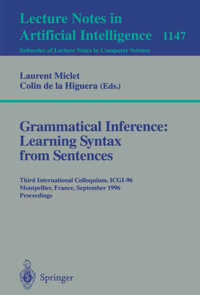 Grammatical Inference: Learning Syntax from Sentences