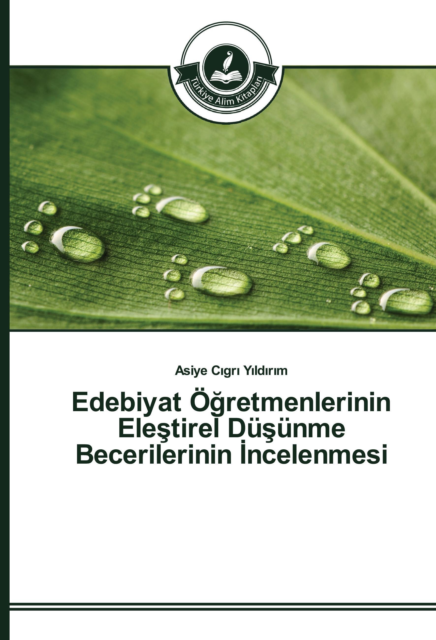 Asiye Cigri Yildirim / Edebiyat Ögretmenlerinin Elestirel Düsü ... 9783639671612