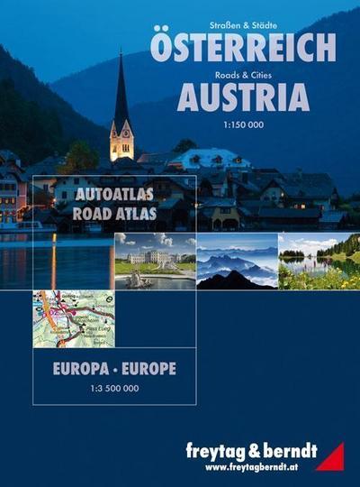 Straßen und Städte Österreich 1 : 150 000 / Europa 1 : 3 500 000. Autoatlas