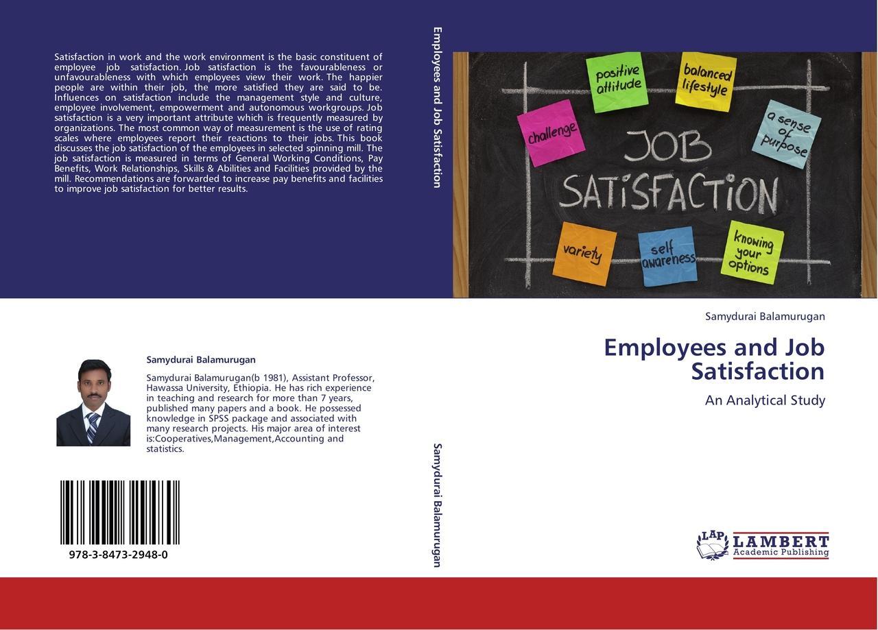 Employees and Job Satisfaction - Samydurai Balamurugan -  9783847329480