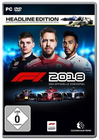 F1 2018 Headline Edition. Für Windows 7/8/10