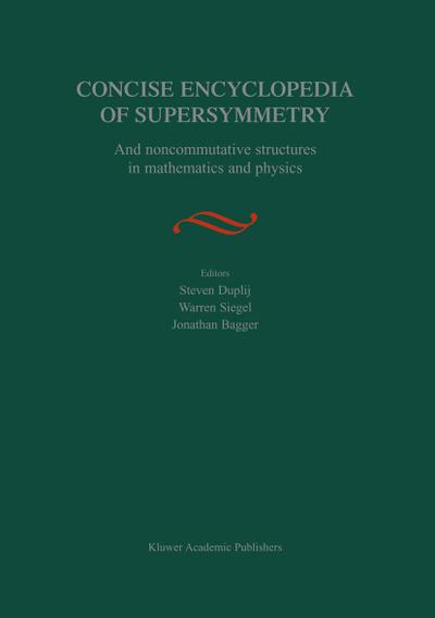 Concise Encyclopedia of Supersymmetry