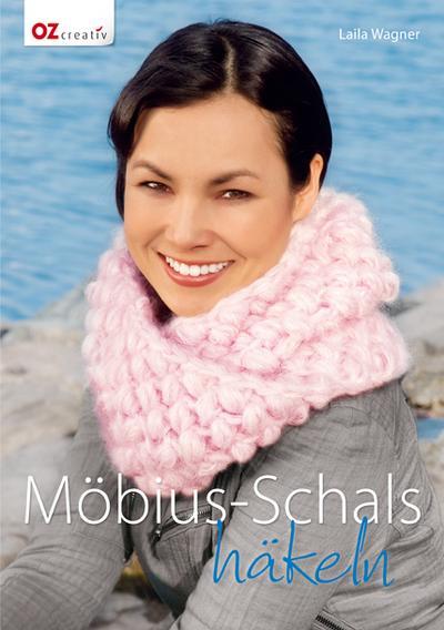 Möbius-Schals häkeln; Deutsch; durchgeh. vierfarbig, mit 8-seitigem Umschlag