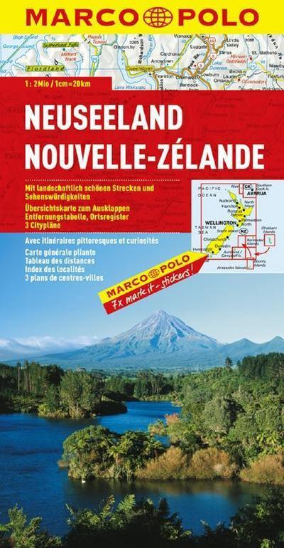 MARCO POLO Kontinentalkarte Neuseeland 1:2 Mio. (MARCO POLO Kontinental /Länderkarten)
