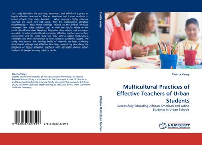 Multicultural Practices of Effective Teachers of Urban Students