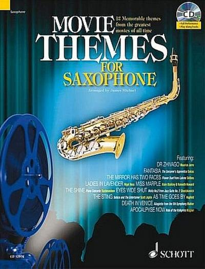 Movie Themes (+CD) : für Tenorsaxophon  (Klavierbegleitung als PDF zum Ausdrucken)