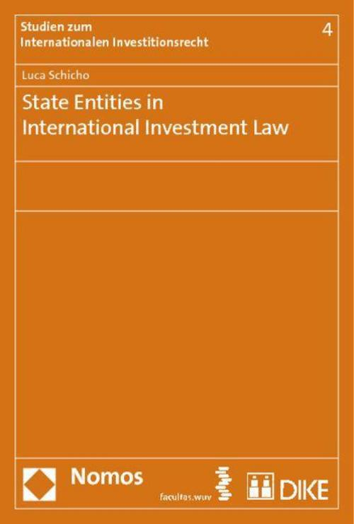 State Entities in International Investment Law Luca Schicho