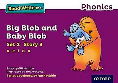 Read Write Inc. Phonics: Purple Set 2 Storybook 3 Big Blob and Baby Blob