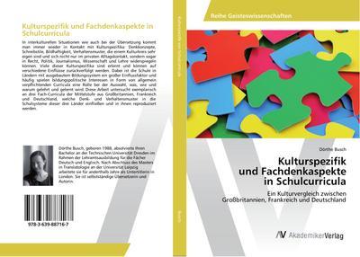 Kulturspezifik und Fachdenkaspekte in Schulcurricula