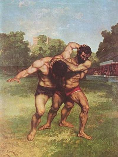 Gustave Courbet - Ringkämpfer - 200 Teile (Puzzle)