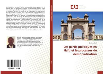 Les partis politiques en Haïti et le processus de démocratisation
