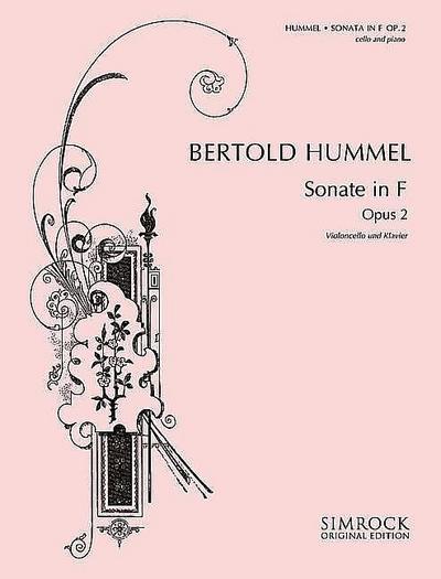 Sonate in F: op. 2. Violoncello und Klavier. (Simrock Original Edition)