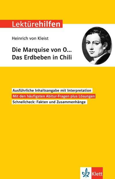 """Lektürehilfen Heinrich von Kleist """"Die Marquise von O.../Das Erdbeben in Chili"""""""