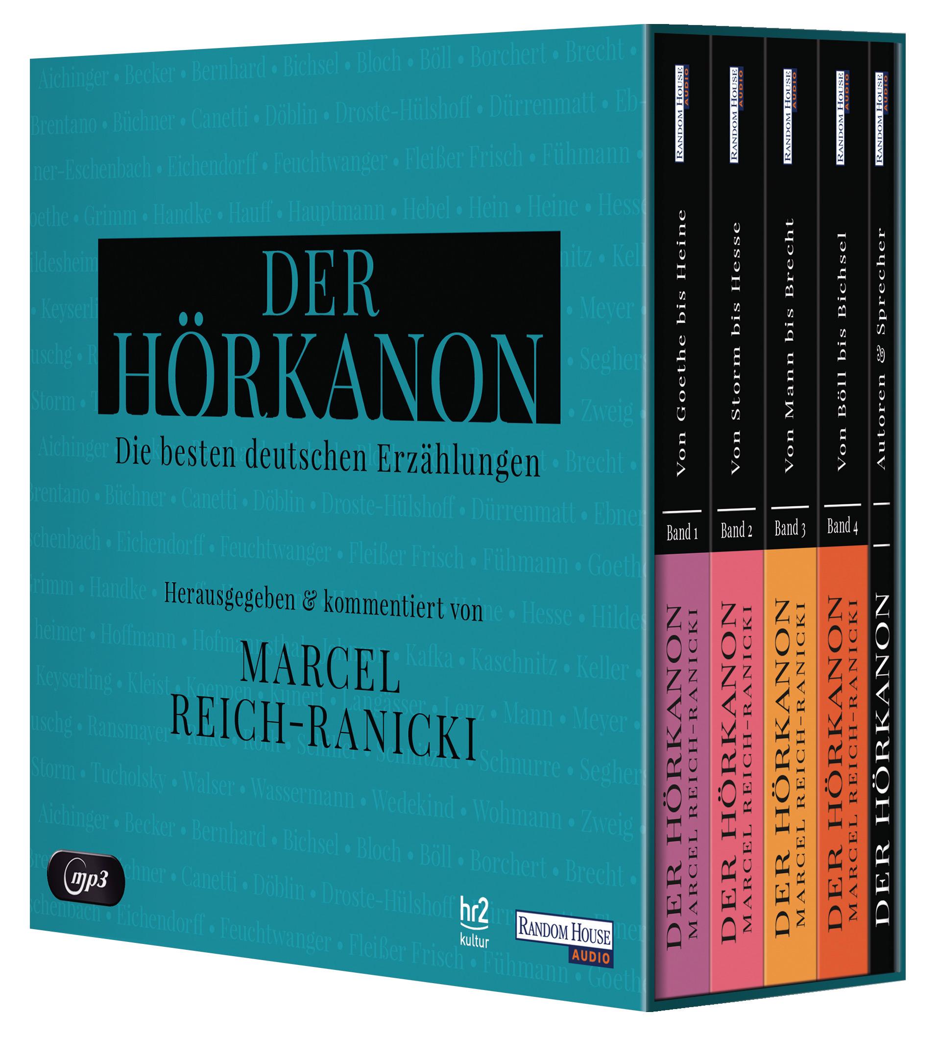 Der Hörkanon  - Herausgegeben und kommentiert von Marcel Reich-Ranicki, Joh ...