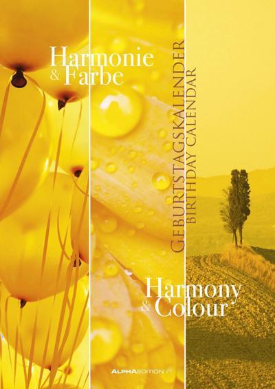 Geburtstagskalender Harmonie & Farbe immerwährend