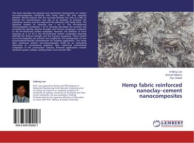 Hemp fabric reinforced nanoclay-cement nanocomposites