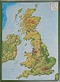 Relief Großbritanien 1:400.000 mit Holzrahmen