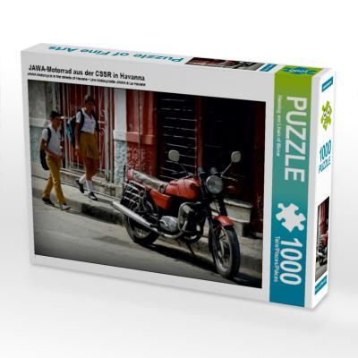 JAWA-Motorrad aus der CSSR in Havanna (Puzzle)
