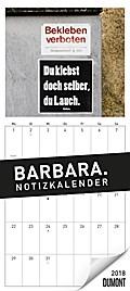 BARBARA. Notizkalender 2018