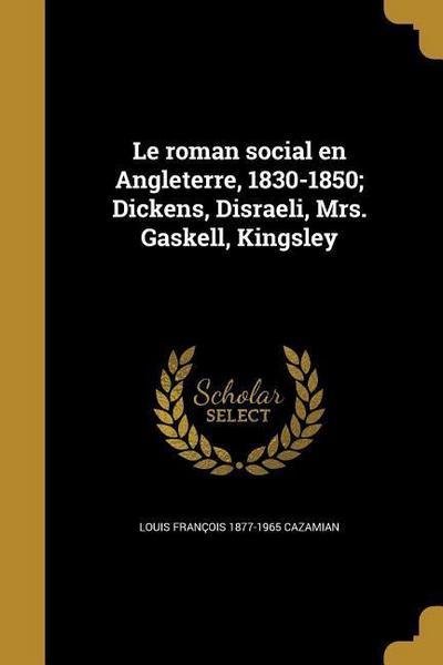 FRE-ROMAN SOCIAL EN ANGLETERRE