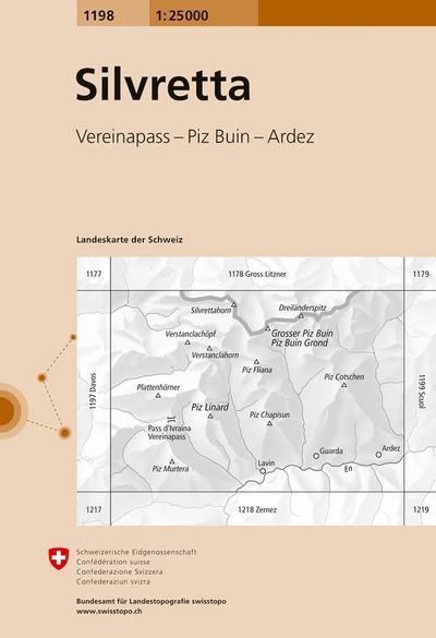 Swisstopo 1 : 25 000 Silvretta