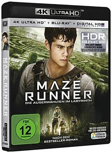 Maze Runner - Die Auserwählten im Labyrinth 4K, 1 UHD-Blu-ray + 1 Blu-ray + ...