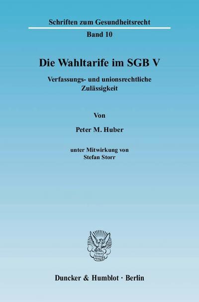 Die Wahltarife im SGB V