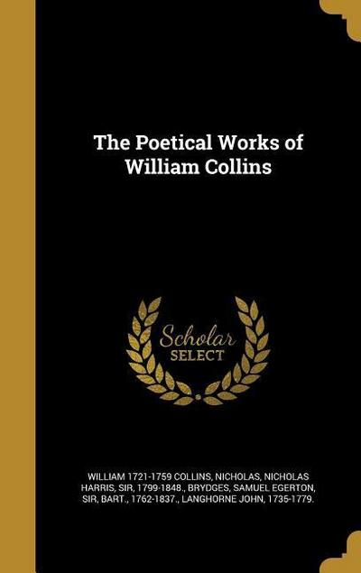 POETICAL WORKS OF WILLIAM COLL