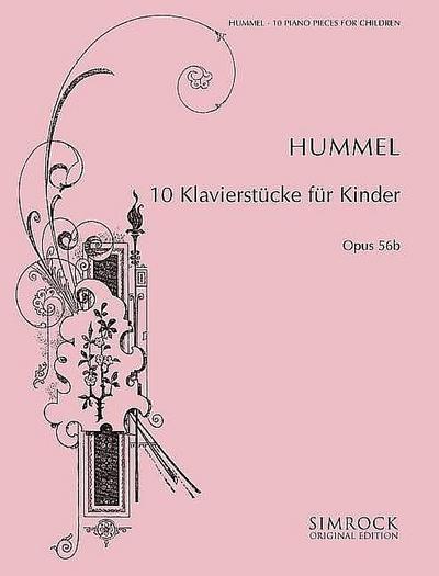 10 Klavierstücke für Kinder op.56b