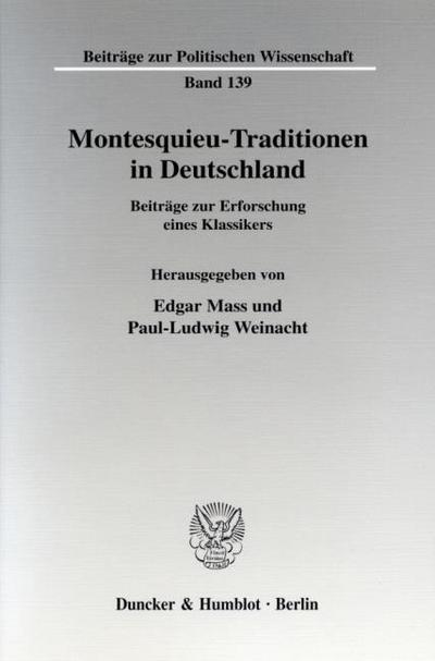 Montesquieu-Traditionen in Deutschland