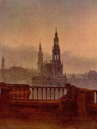 Carl Gustav Carus - Blick auf Dresden von der Brühlschen Terrasse - 200 Teile (Puzzle)