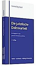 Die juristische Doktorarbeit