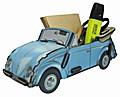 Zettelbox 'VW Käfer Cabriolet Blau'