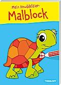 Mein Knuddeltier-Malblock gelb. Ab 4 Jahren; Malbücher und -blöcke; Ill. v. Poppins, Oli; Deutsch; s/w