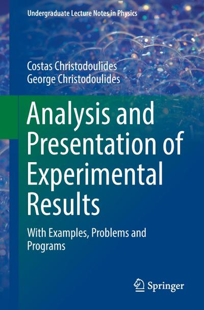 Analysis and Presentation of Experimental Results