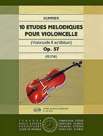 10 études mélodiques op.57pour violoncelle (vc 2 ad lib.)