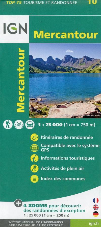 IGN 75 000 Touristische Wanderkarte 10 Mercantour