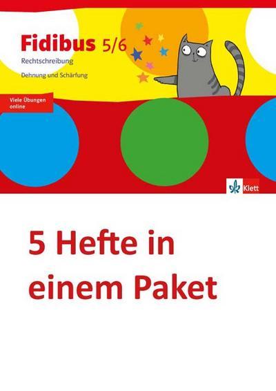 Fidibus 5/6. Arbeitsheft Rechtschreibung - Dehnung und Schärfung. 5-er Paket