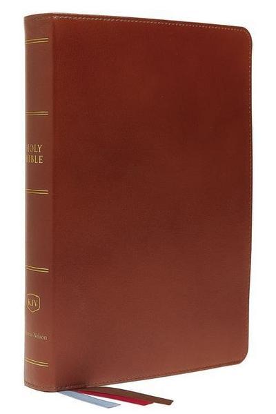 KJV, Preaching Bible, Premium Calfskin Leather, Brown, Comfort Print
