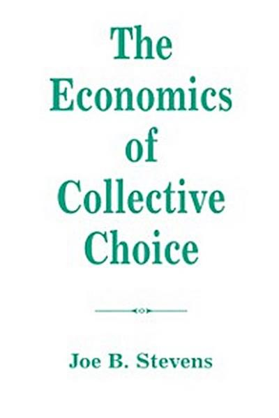 Economics Of Collective Choice